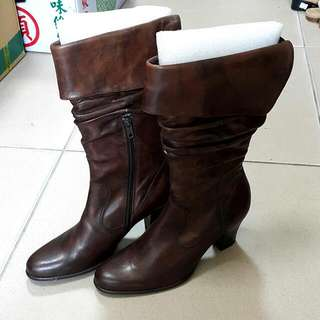 LEATHER BOOTS (ADANNA)