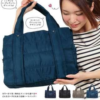 FUNNNY 日本同步輕量尼龍肩背包系列 佐藤 晴美 深藍