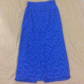Blue Electric Long Skirt