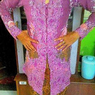 kebaya pink keunguan,,furing,,uk M to L