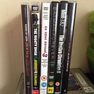 DVDs $1 Each