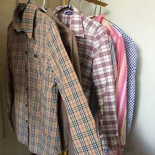 vintage Burberry shirts