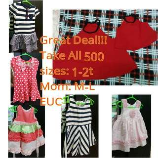 Baby Dresses and Mom and Daugther