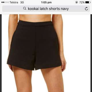 Kookai Navy Shorts