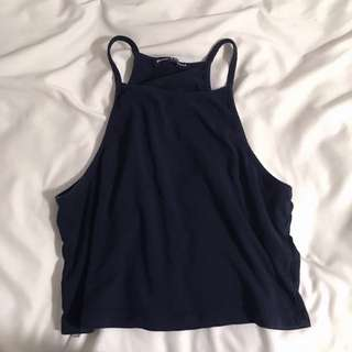 Brandy Melville Navy Blue Halter Top