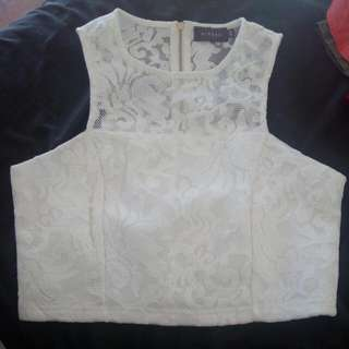 White Laced Top