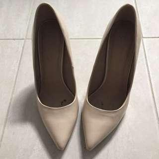 Nude patent heels (ASOS)
