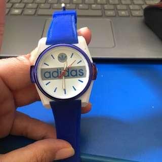 Adidas Watch Colour Blue.. KW, Mulus.. Batre Nyala ..cantik😊