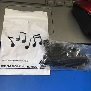 Headset On Plane.. From Singapore Airlines. New