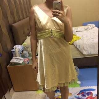 Tutu Gold Dress / Party Dress