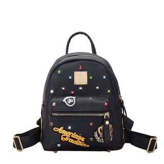 NS7743 Black - Tas Sekolah, Tas Kuliah, Tas Ransel, Tas Punggung - Tas Wanita - Tas Fashion Import