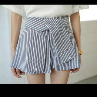 INSTOCK Sleeve Tie Striped Shorts