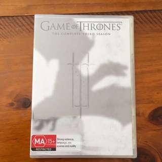 Unopened Game of Thrones DVD Season 3