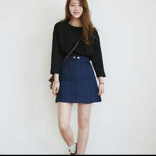 [INSTOCK] VERTICAL STRIPE SKIRT