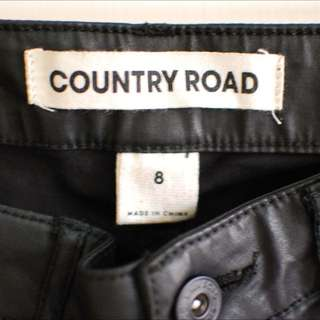"""Country Road Black """"Leather Look"""" Jeans"""
