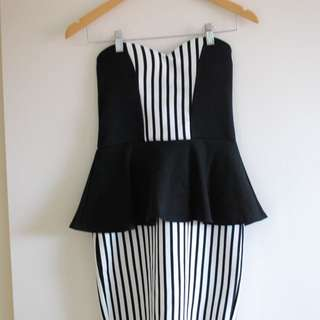 BooHoo Peplum Mini Dress