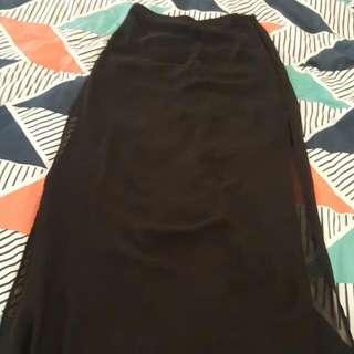 Forever 21 Sheer Maxi Skirt