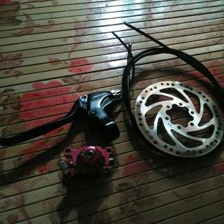Spare Mechanical Disk Brake Plus Caliper Plus Wire Plus Disk And The Lever ...