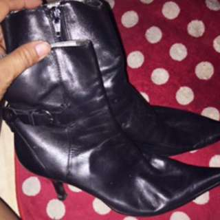 Nine West Genuine Leather Mid Boots