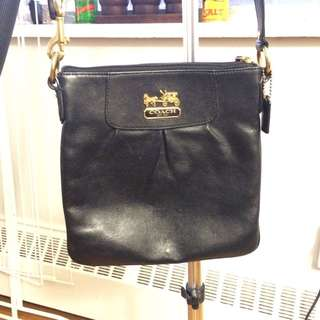 Coach Crossbody Black Leather