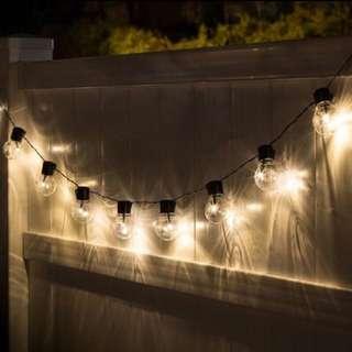 <上城>LED透明5cm大圓球串燈 星星燈露營燈婚禮串燈usb/插電兩款