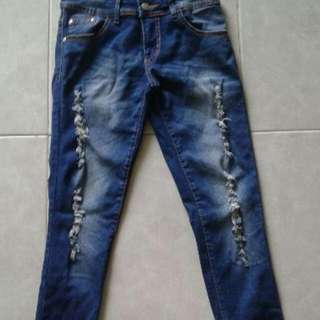 REPRICE NEW JEANS RIPPED
