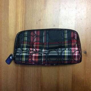 Tartan Coach Makeup Bag