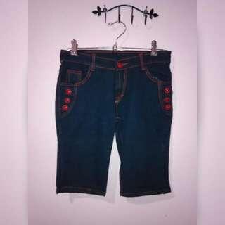 Navy Blue Short Jeans