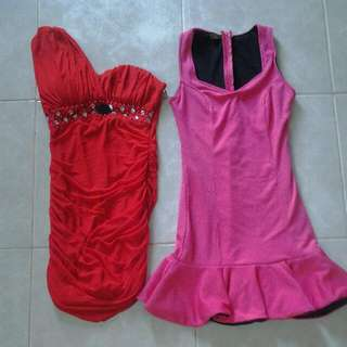 DRESS PINK RED