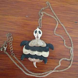 Long Chained Turtle Necklace