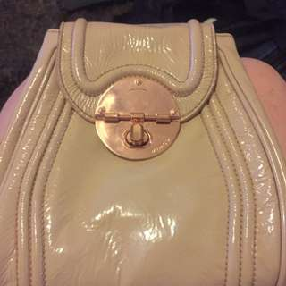 Rare nude Mimco Off Beat Hip Bag