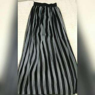 Long Skirt B&W