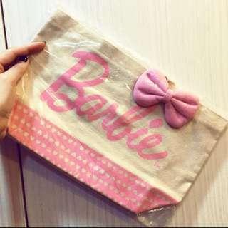Barbie 粉紅立體蝴蝶結 午餐袋 手提袋