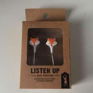 Fox Earphones from Typo