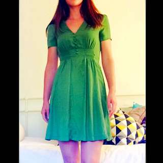 DANGERFIELD Apple Green Mini Dress Size 8