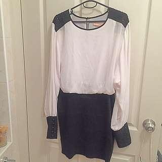 Black And White Cooper St Dress Size 10