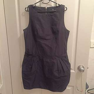 Cue Size 10 Black Work Dress