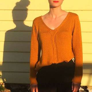 Mustard🌼Slouchy Knit Sweater/Jumper Size Small