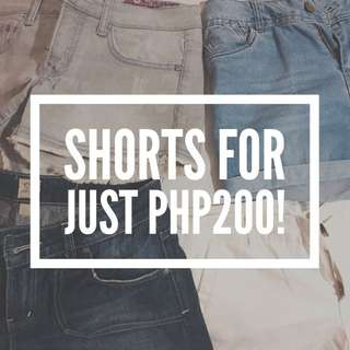 ❗️SALE: Shorts For Just Php200!