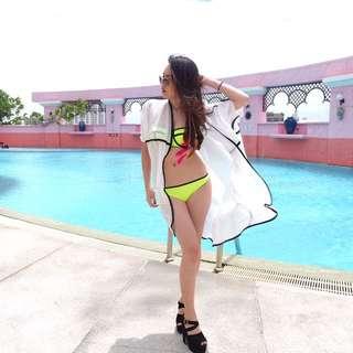 Neon triangl bikini