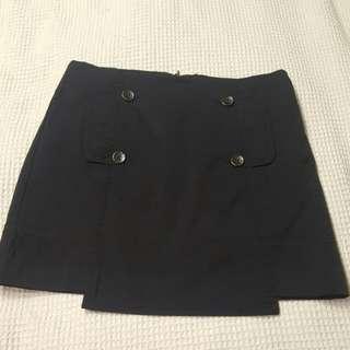 Cue Navy Mini Skirt Size 8-10