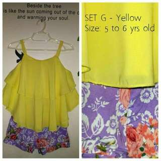 Flowy Chiffon Top & Shorts Set