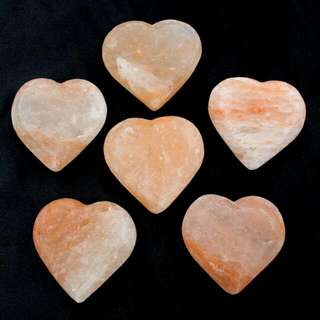 Himalayan Salt Heart Pack of 6