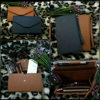 👝FREE SHIPPING Stylish Tripping Clutch For Ladies  COLOR: Coffee/Navy Blue