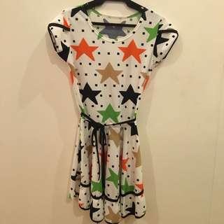Stars Designed Dress