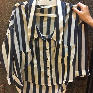 navys chiffon shirt