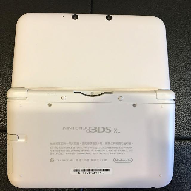新淨白色3DS XL 港版可玩正版Pokemon 中文版