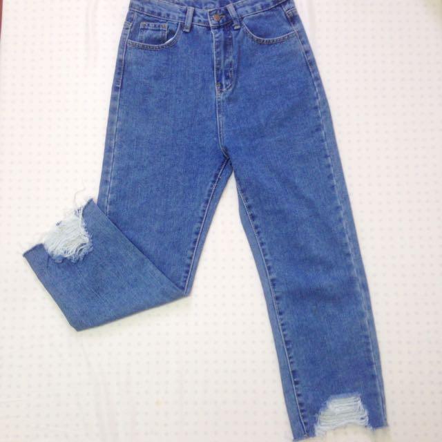 ✨出清‼️韓版牛仔寬褲
