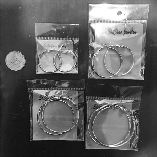 各種大小圈圈耳環
