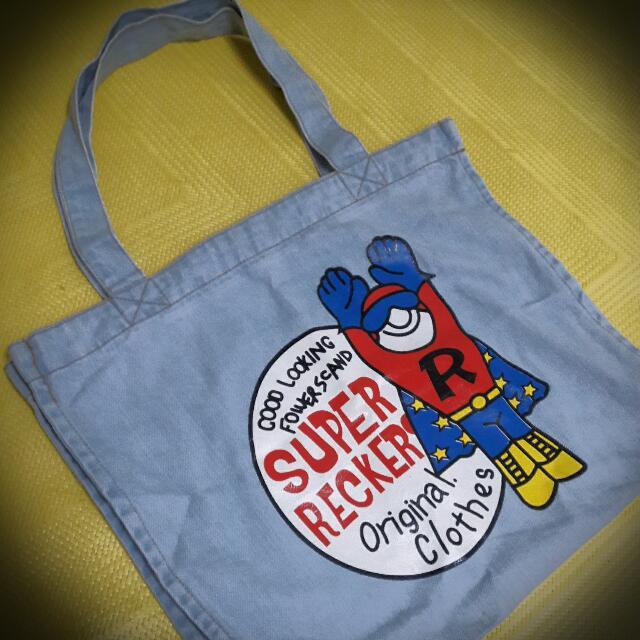 超人圖案側背包